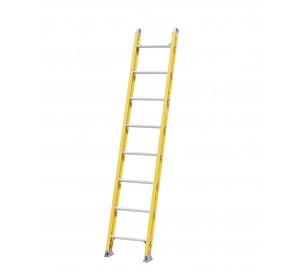 8' Fiberglass 500lb. Capacity Single Ladder