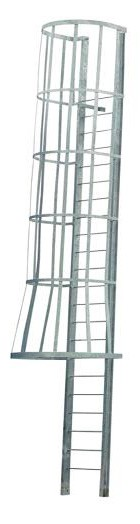 Calico Ladders Carbis Painted Side Exit Cage Fixed Ladder