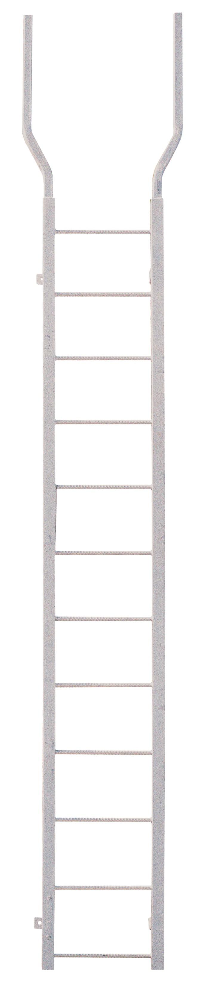 Walk Thru Ladder : Quot fpw series primed steel fixed ladder w flared top walk