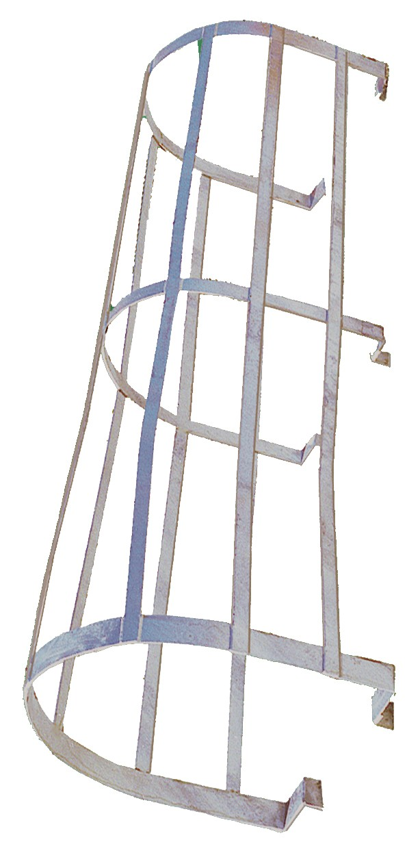 Painted Steel Fixed Ladder Safety Cage Fixed Ladder
