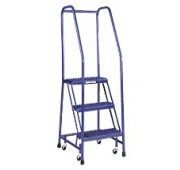 "Cotterman 20"" Powder Coated Steel Tilt-N-Roll Ladder"