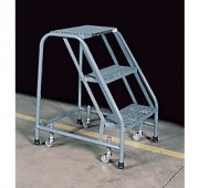 "Cotterman 30"" Powder Coated Steel Tilt-N-Roll Ladder"