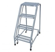 "Cotterman 40"" Powder Coated Steel Tilt-N-Roll Ladder"