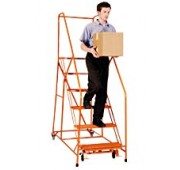 "Cotterman 40"" Powder Coated Steel Easy Climb Ladder"