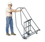 """Cotterman 30"""" Powder Coated Steel Tilt-N-Roll Ladder"""