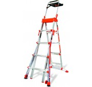 Little Giant Ladders 5'-8' Aluminum Extendable Step Ladder w/ AirDeck