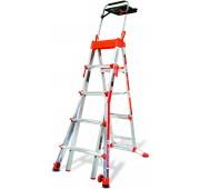 Little Giant Ladders 6'-10' Aluminum Extendable Step Ladder w/ AirDeck