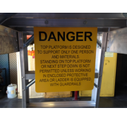 Aircraft Maintenance Ladder Warning Signs