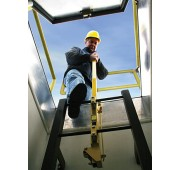 Bilco Ladder Up Safety Post - Safety Yellow