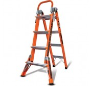Little Giant Ladders 5' Fiberglass Combination Multi-Use Ladder