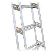 10' Aluminum Double Rung Marine Ladder w/ Handrail
