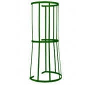 Powder Coated Steel Fixed Ladder Safety Cage