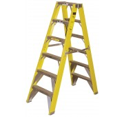 14' Fiberglass 500lb. Capacity Double Fronted Step Ladder