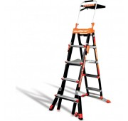 Little Giant Ladders 5'-8' Fiberglass Extendable Step Ladder