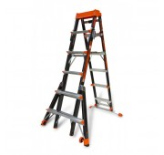 Little Giant Ladders 6'-10' Fiberglass Extendable Step Ladder