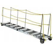 Aluminum Marine Stage Gangway with Rope Handrails by Calico Ladders