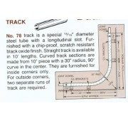 Cotterman 10' Black Oxide Lower Track Section