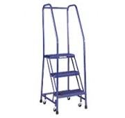 """Cotterman 20"""" Powder Coated Steel Tilt-N-Roll Ladder"""